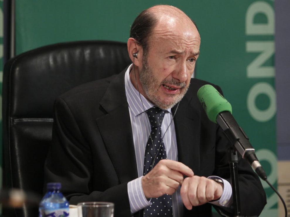 El candidato socialista a la Presidencia del Gobierno, Alfredo Pérez Rubalcab