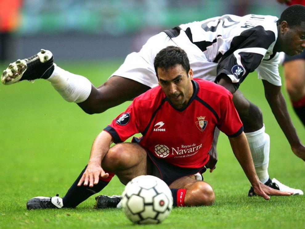 Rafael Clavero durante un partido contra el Osasuna.