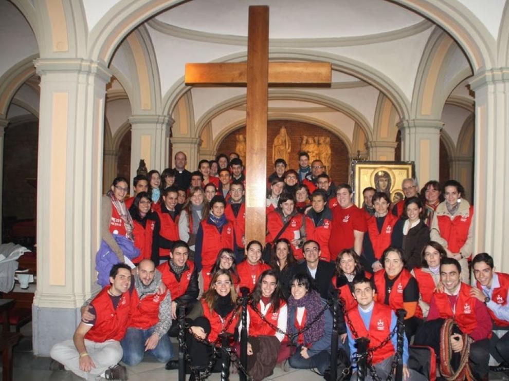 Los jóvenes de la Diócesis se volcaron en diciembre con la llegada a Zaragoza de la Cruz de las JMJ
