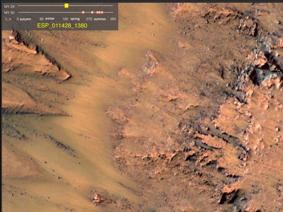 Imágenes tomadas por la Nasa en Marte