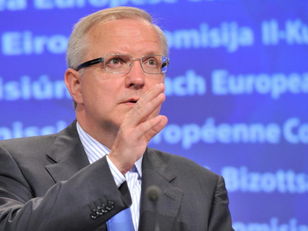 El comisario de Asuntos Económicos, Olli Rehn