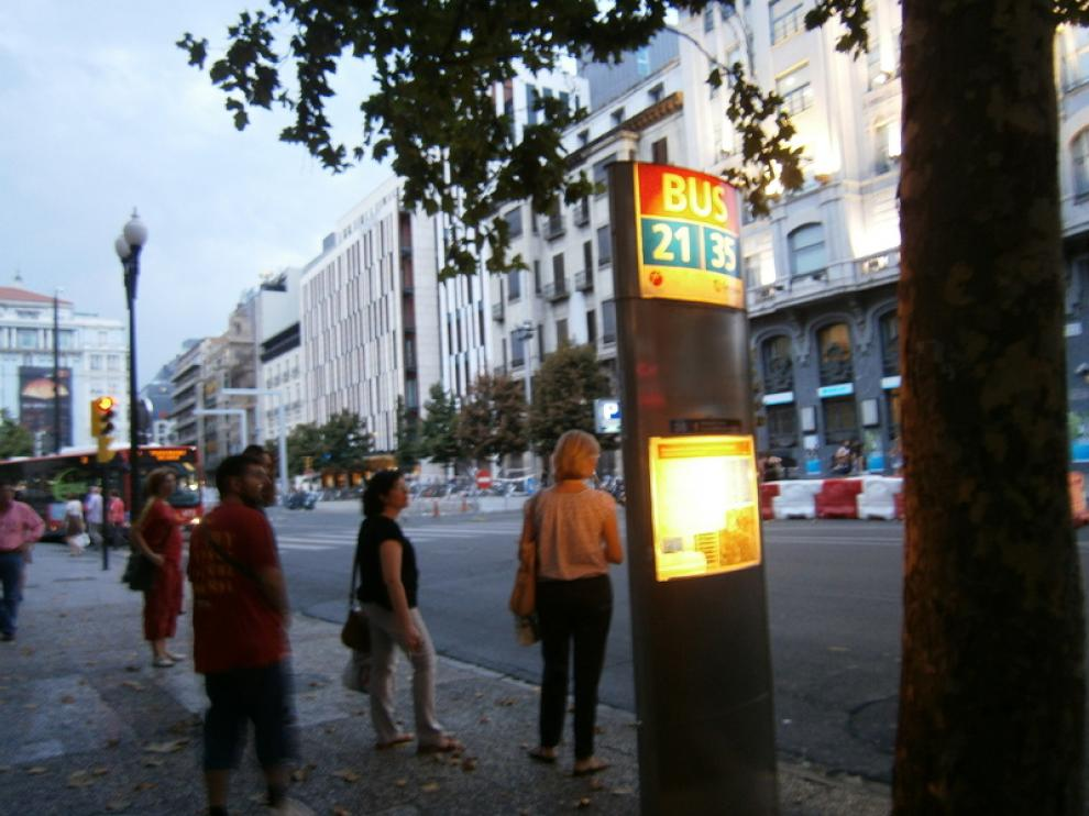 Parada de la línea 35 junto a la Plaza España