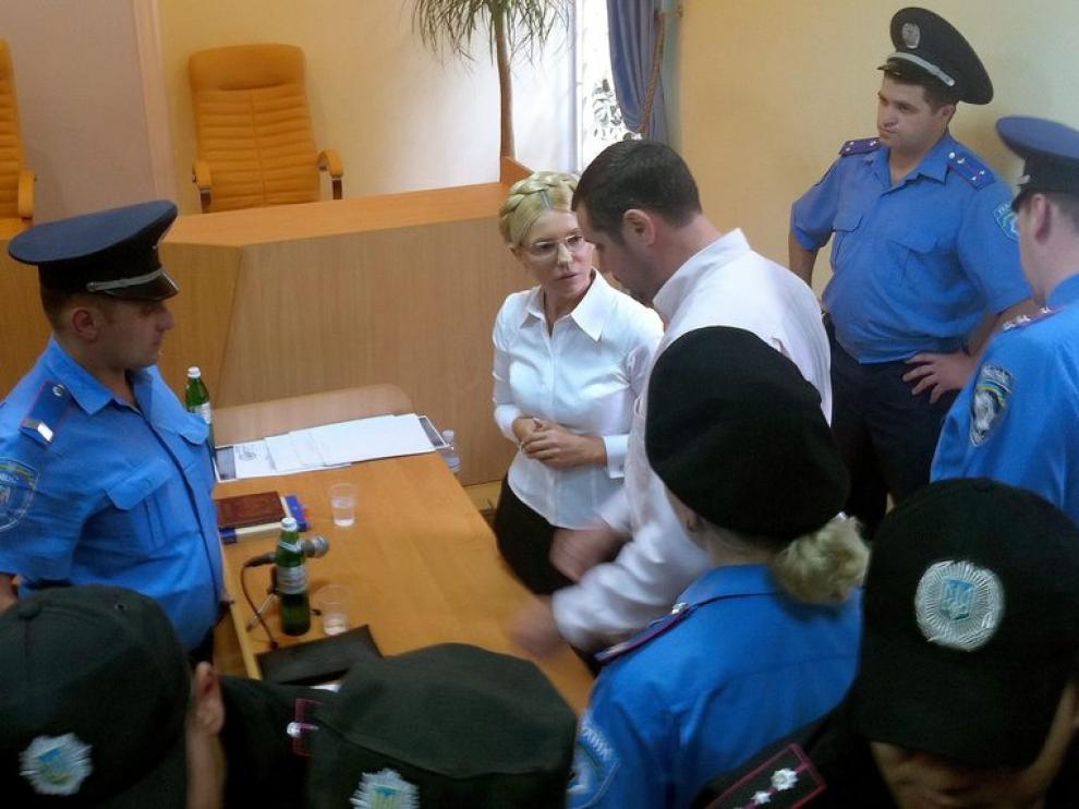 Foto de arhivo de Timoshenko ante el juez
