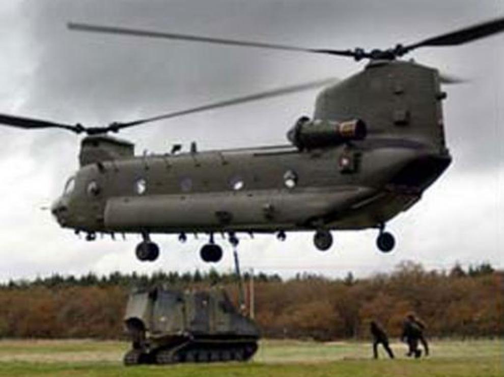 Un helicóptero tipo 'Chinook'
