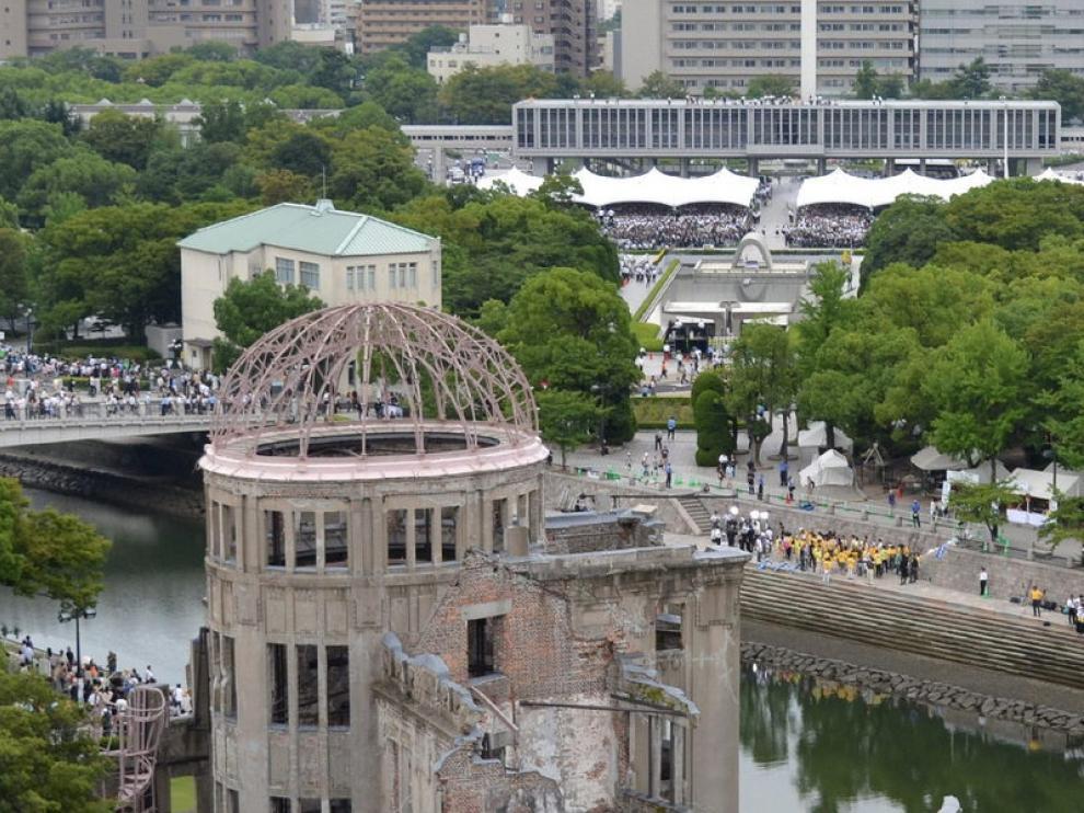Homenaje a las víctimas de la bomba de Hiroshima
