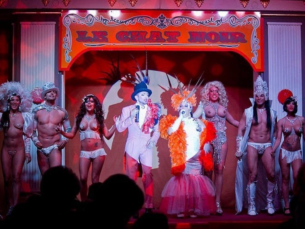 Esta es la retahíla de artistas del Cabaret Burlesque.