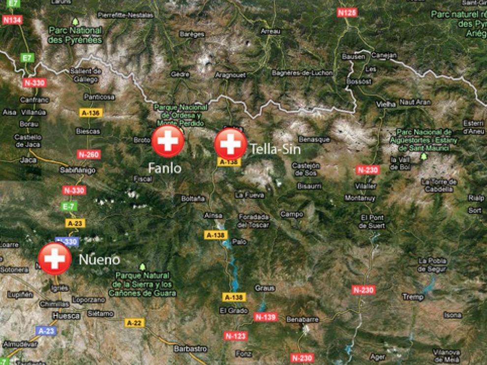Términos municipales en los que se han localizado los rescates