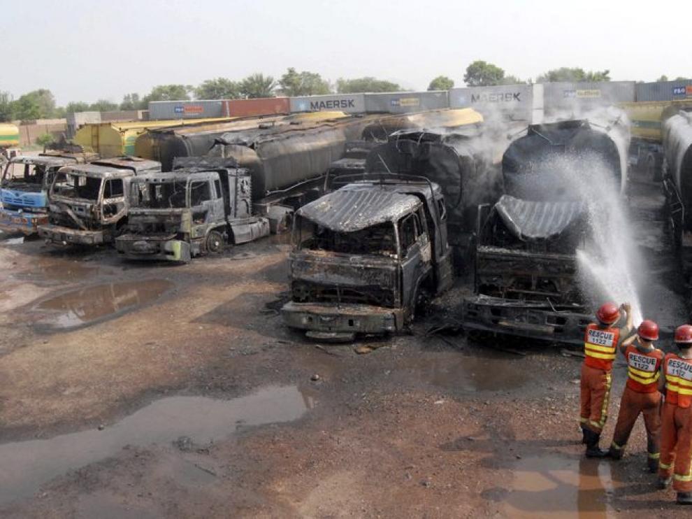 ataque a los camiones de la Otan en Peshawar