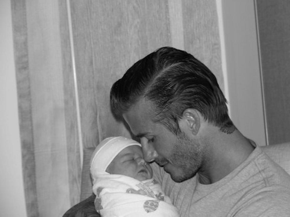 David Beckham junto a su hija Harper Seven