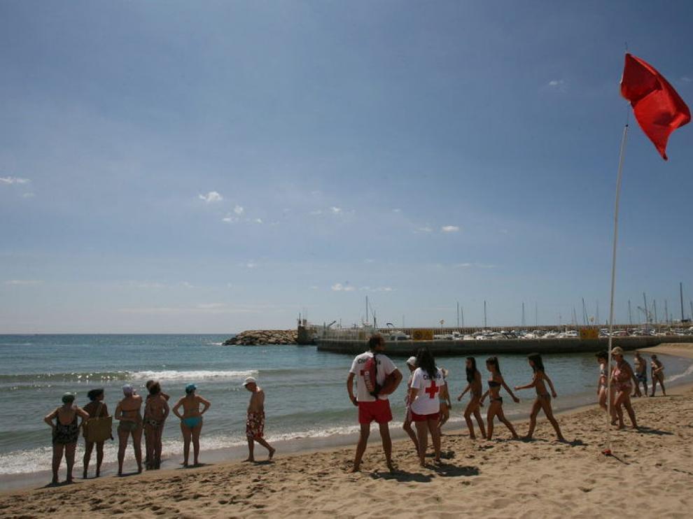 Playa en la que se produjo el suceso