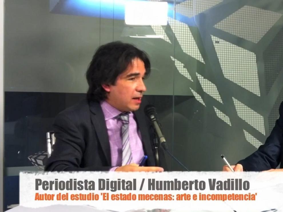 Humberto Vadillo durante la entrevista.