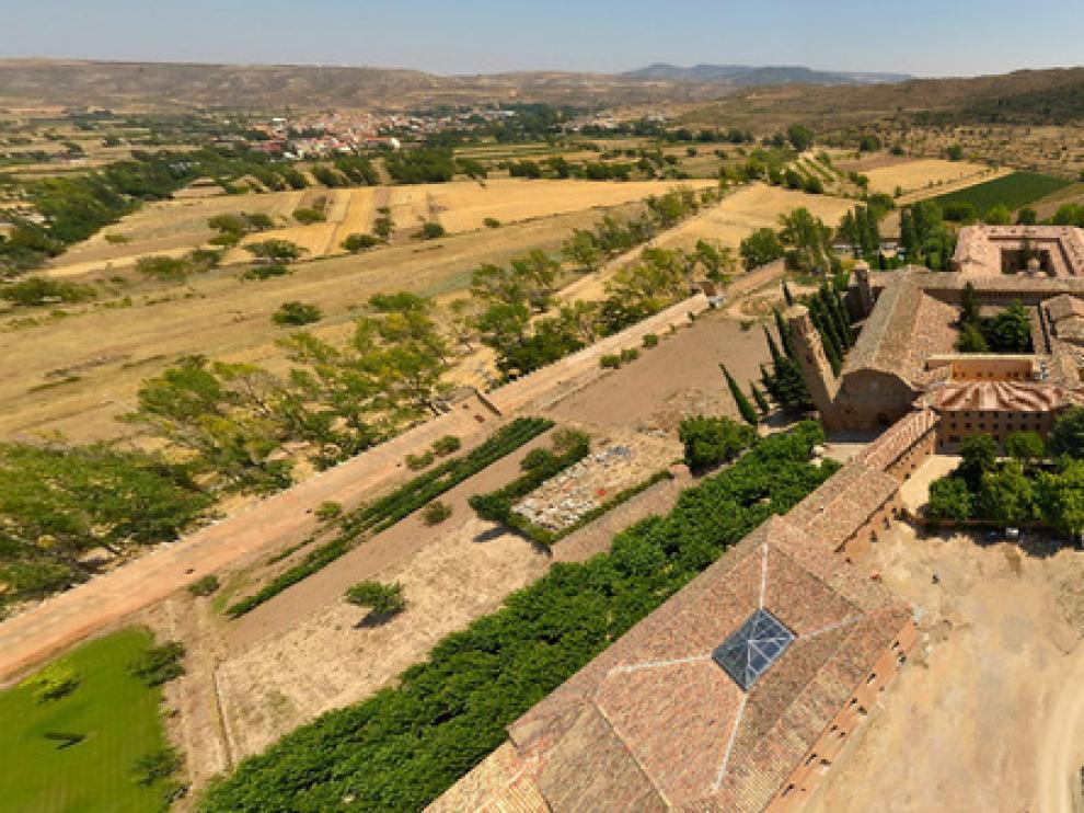 Vista del monasterio de Veruela, donde el viernes tendrá lugar la cata del Concurso Mundial de Garnachas.
