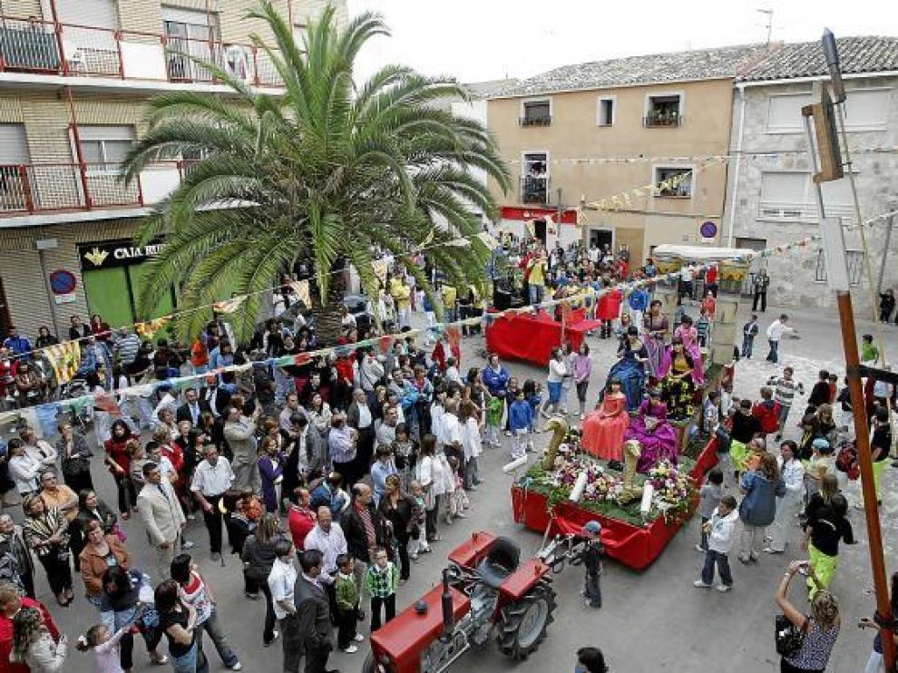 La Muela no paga los actos de las fiestas desde 2008. En la imagen, el pregón de 2009.
