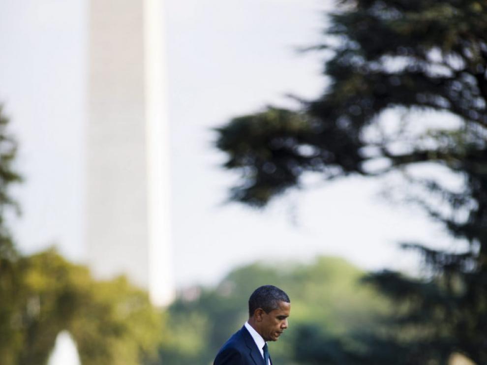 Obama tras recibir a los soldados fallecidos en el ataque.