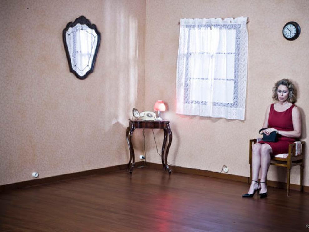 Miriam Diíaz-Aroca en una imagen promocional de la obra de teatro