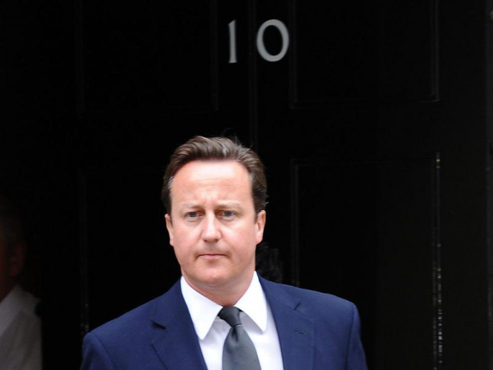 Cameron en Downing street