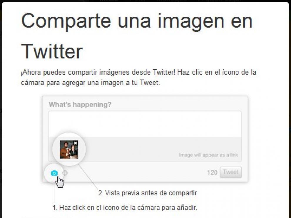 Twitter estrena un servicio para compartir imágenes