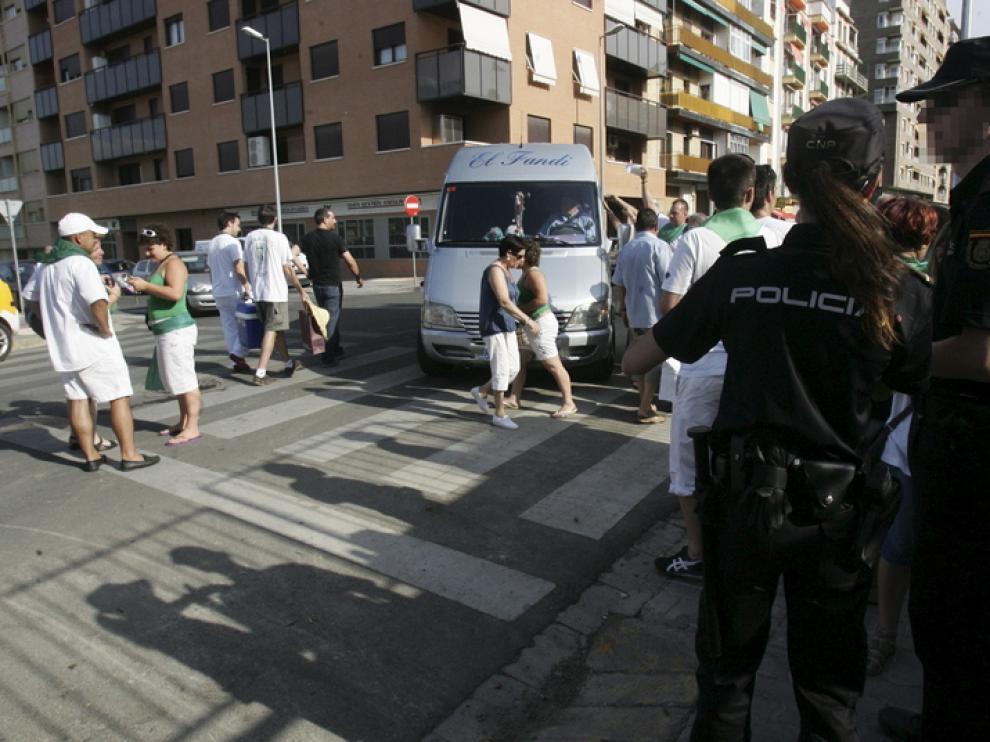 La Policía presta especial atención a los escenarios más masificados, como la plaza de toros.