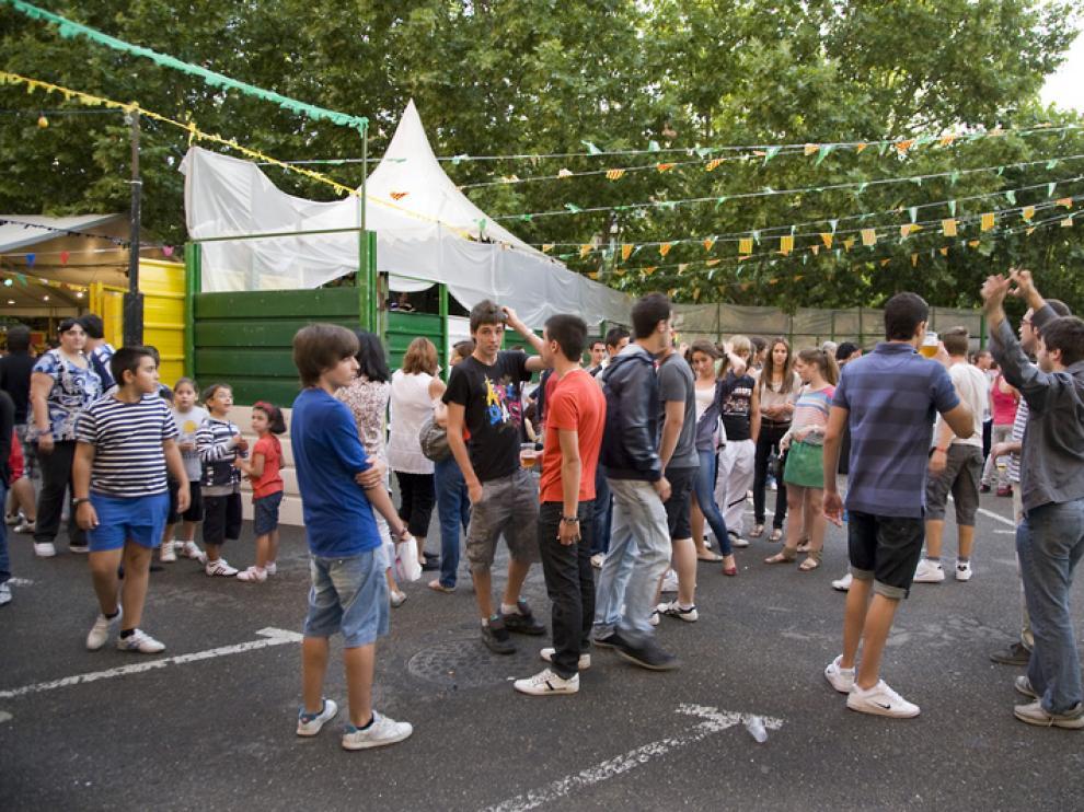 Los peñistas ya disfrutaban ayer de los festejos en Calatayud.