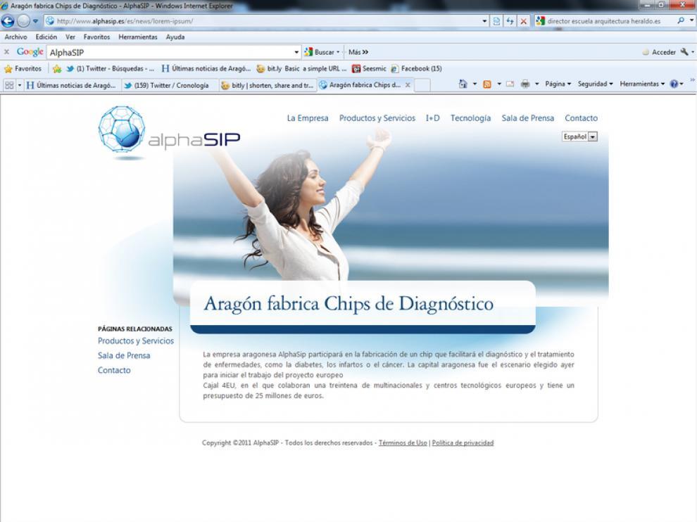 Página web de AlphaSIP.