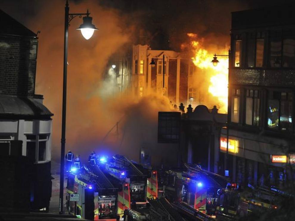 Incendio de la zona de Tottenham