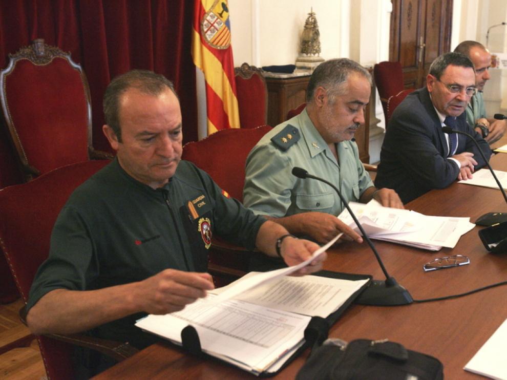 Foto de archivo de la presentación del balance de rescates de montaña en Huesca.