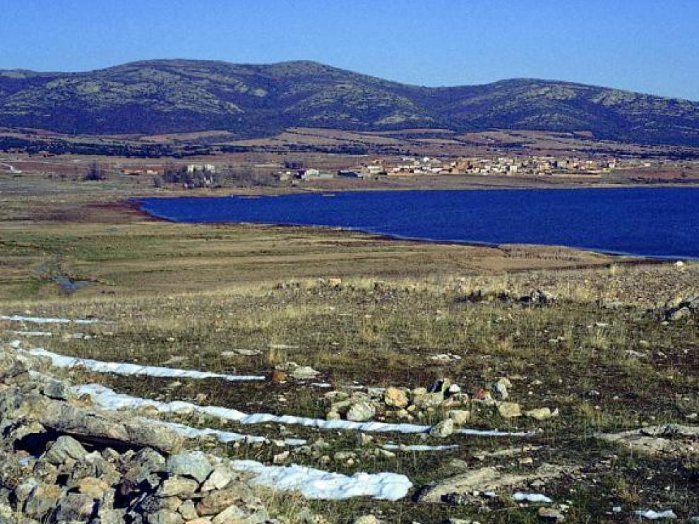 Vista de la laguna de Gallocanta.