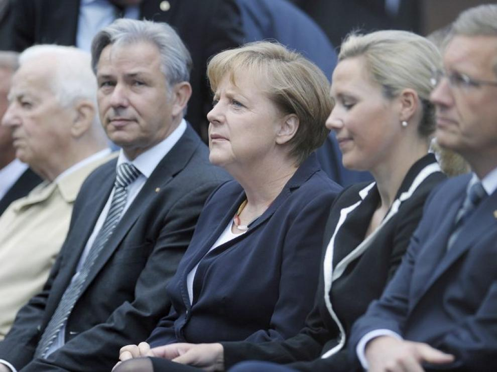 La canciller Angela Merkel y el presidente Christian Wulff