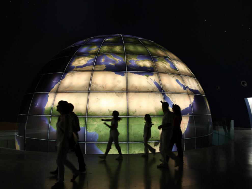 Vistas del interior del Planetario