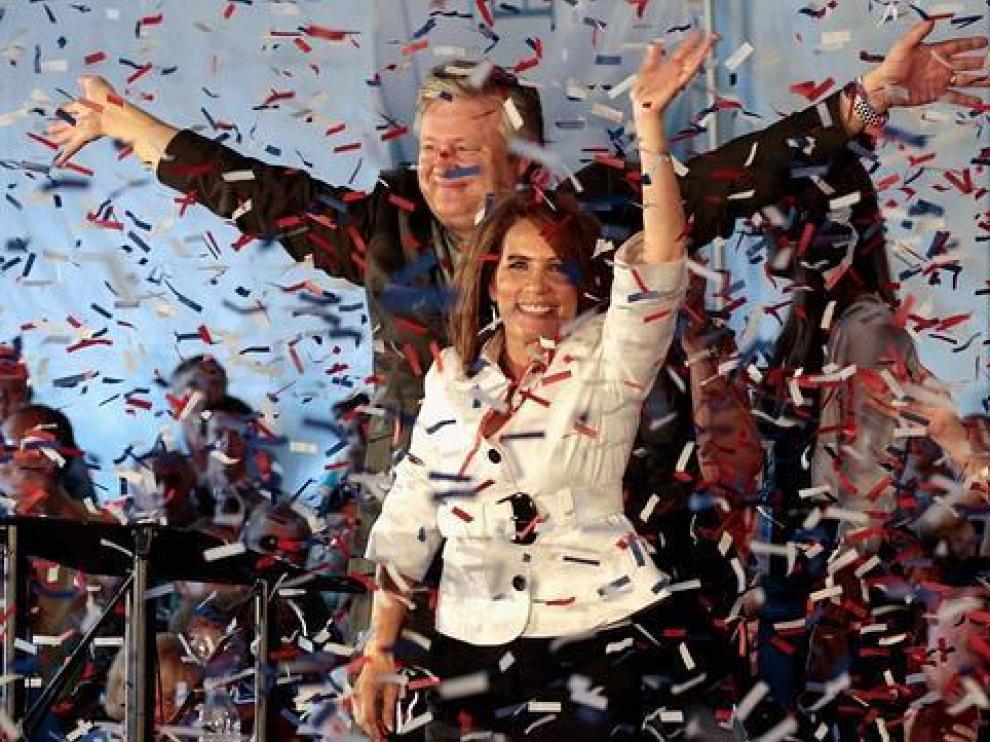 Michelle Bachmann tras ganar la consulta republicana