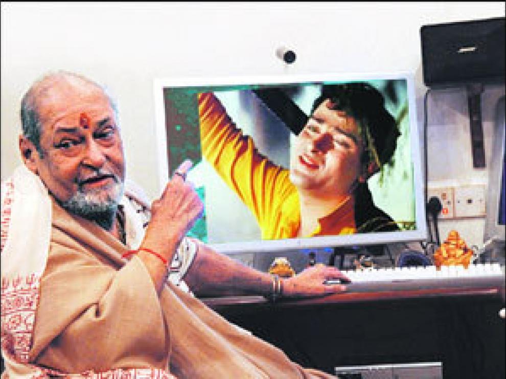 El actor indio Shammi Kapoor