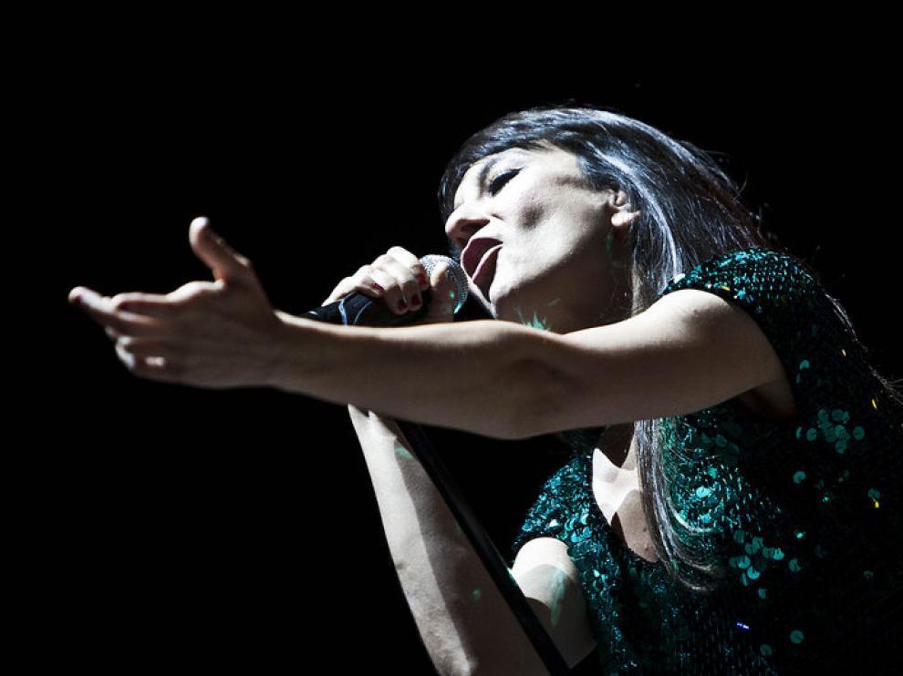 Amaral, durante su actuación en el Sonorama