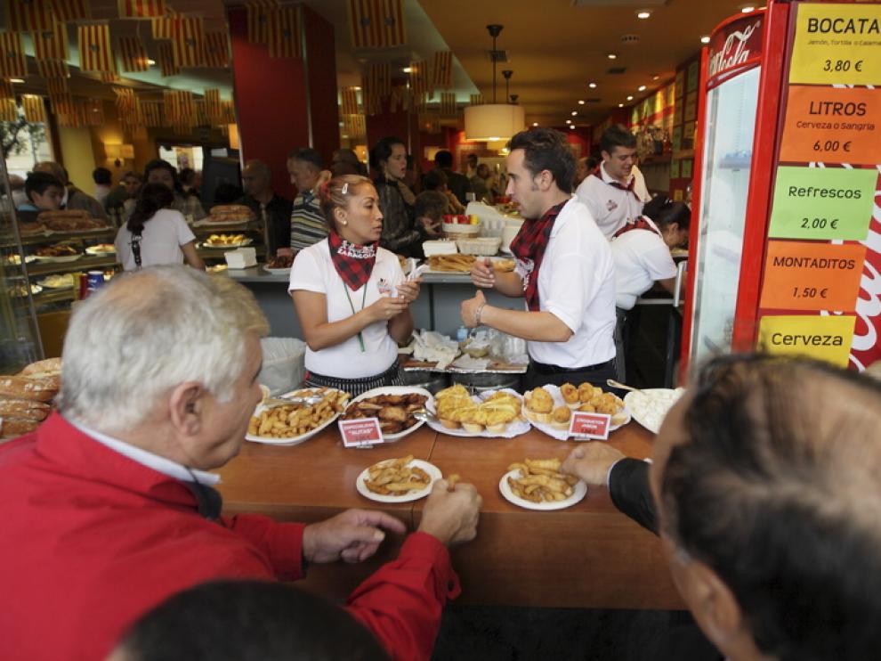 El Restaurante Las Palomas durante las Fiestas del Pilar de 2010.