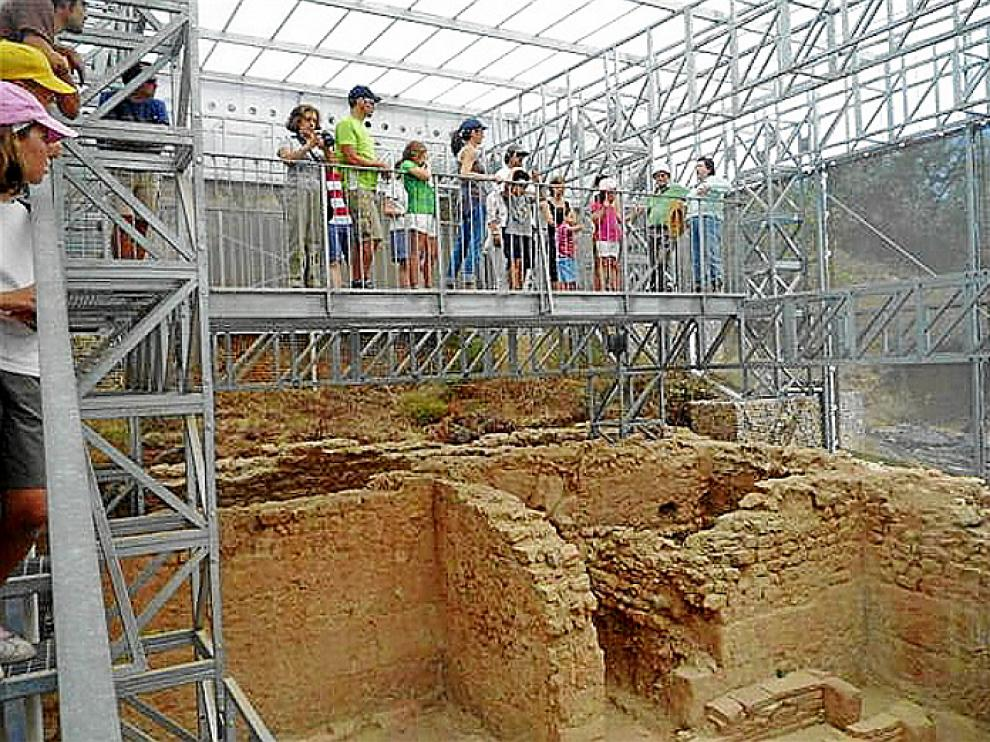 Los visitantes se sorprendieron del buen estado de las ruinas