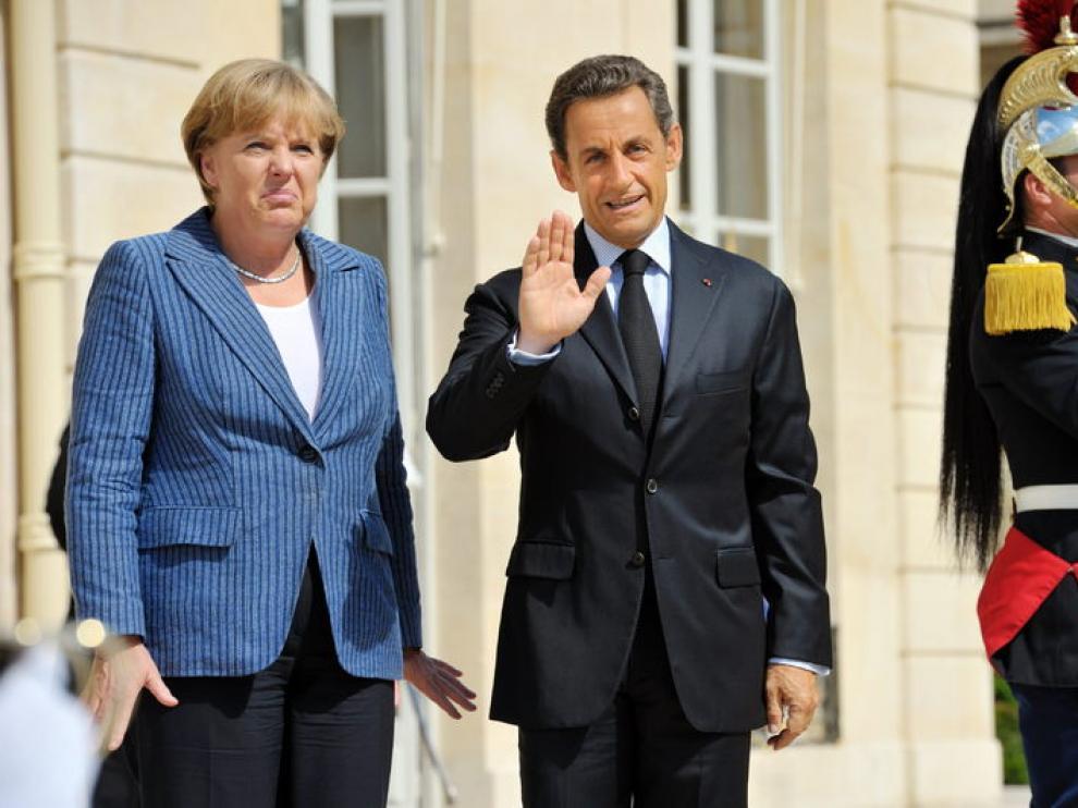 Nicolás Sarkozy y Ángela Merkel