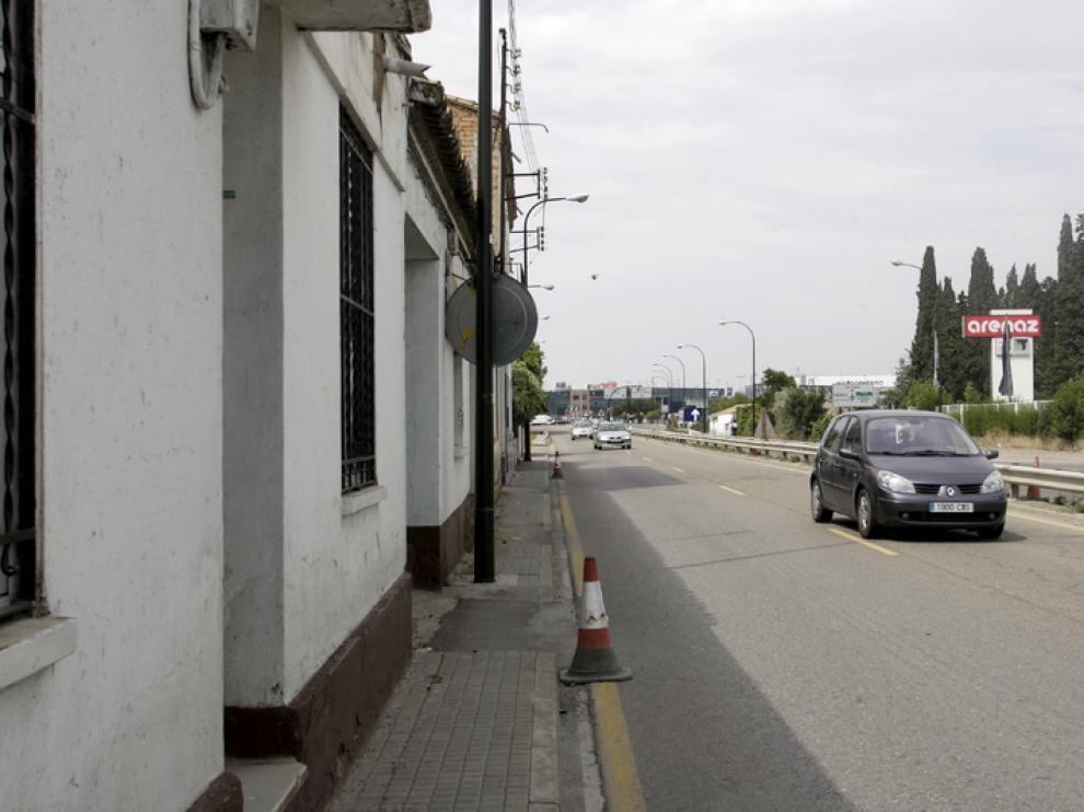 Imagen actual de las aceras a la altura de la calle de La Violeta