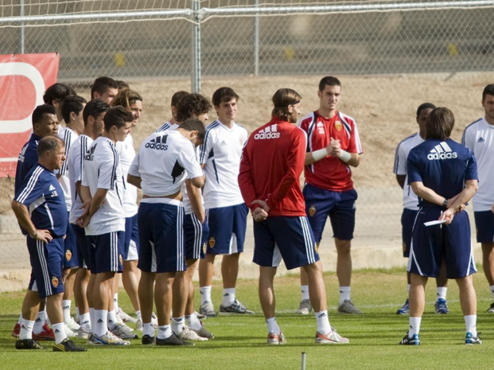 El Real Zaragoza, en un entrenamiento