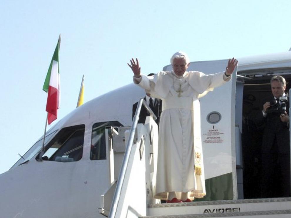 Llegada del Papa al aeropuerto de Barajas