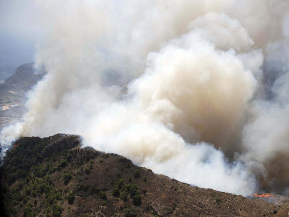 Incendio en el paraje del Pico del Águila