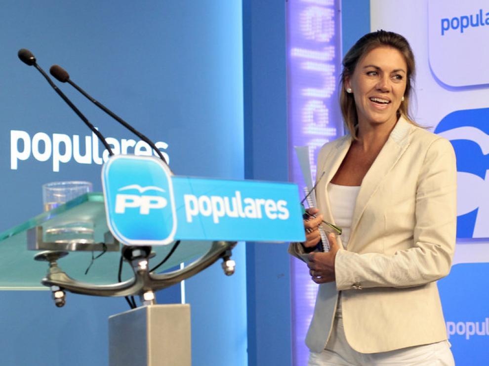 María Dolores de Cospedal tras la ejecutiva federal del PP