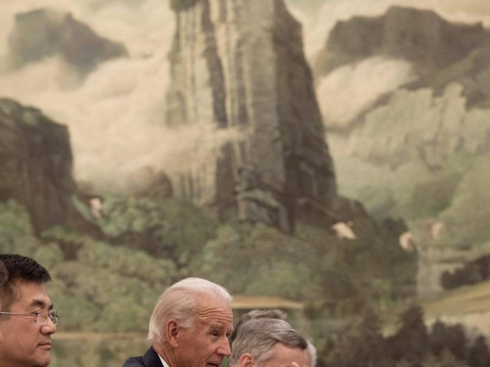 El vicepresidente de EE. UU., Joe Biden, de visita en China