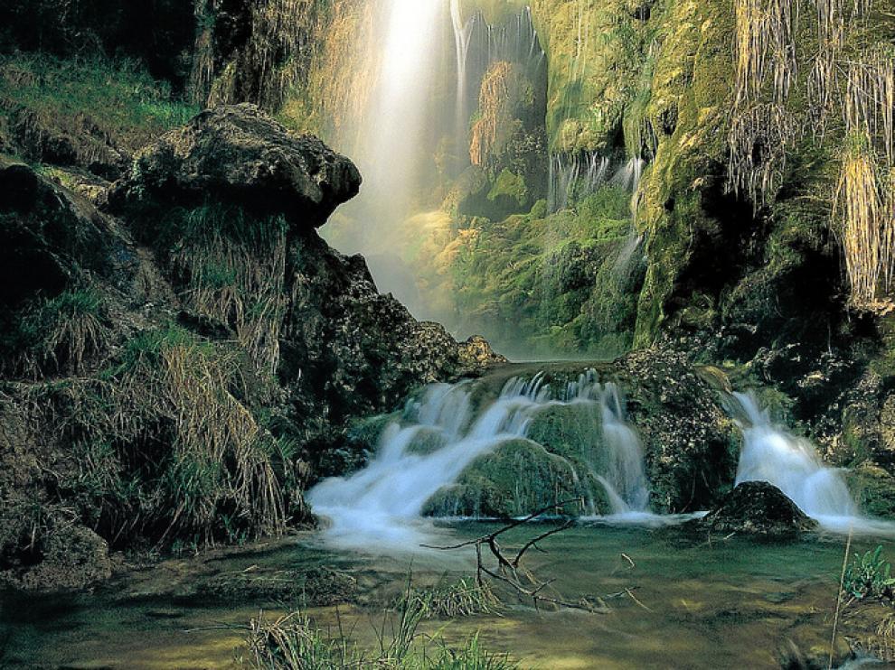 La cascada del Arquero vista desde la ruta