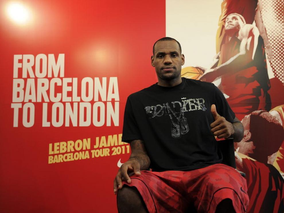 LeBron James en Barcelona