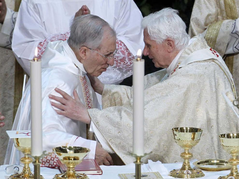 Benedicto XVI y el cardenal Rouco