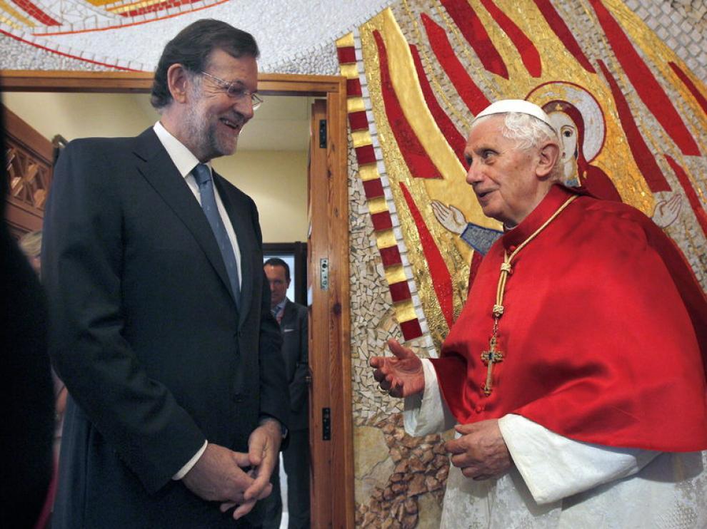 El Papa en su reunión con Rajoy