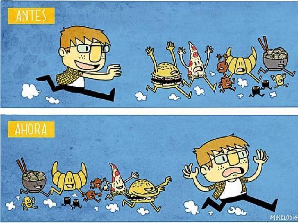 Una de las historietas que cada lunes y jueves publica Mikel en http://103proteinas.tumblr.com