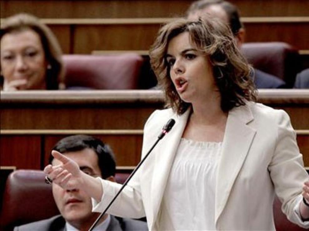 Soraya Sáenz de Santamaría, en una imagen de archivo