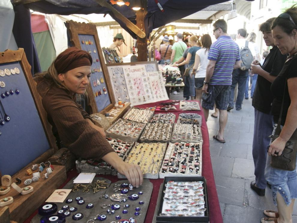 Mercado medieval en Huesca