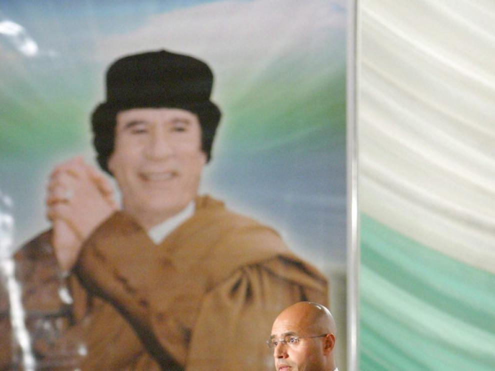 Fotografía de archivo que muestra a Saadi Gadafi
