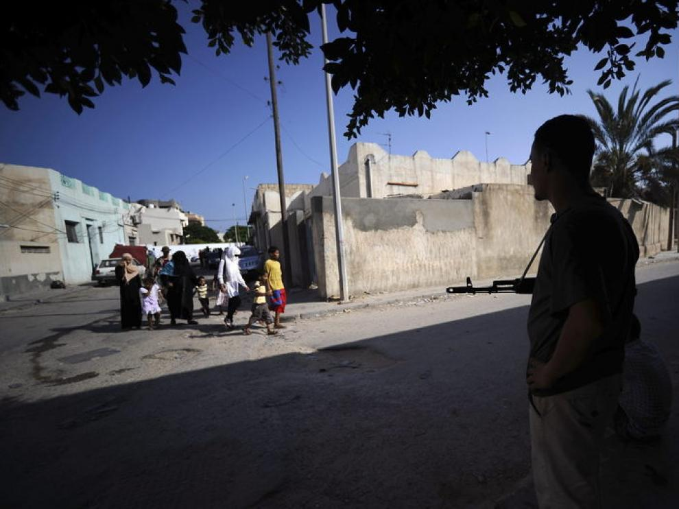 Las calles de Trípoli, esta mañana